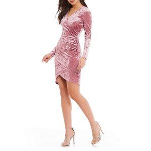 Gianni Bini   NWOT Pink Crushed Velvet Wrap Dress